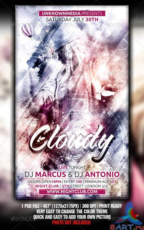 GraphicRiver Cloudy Flyer Template Design
