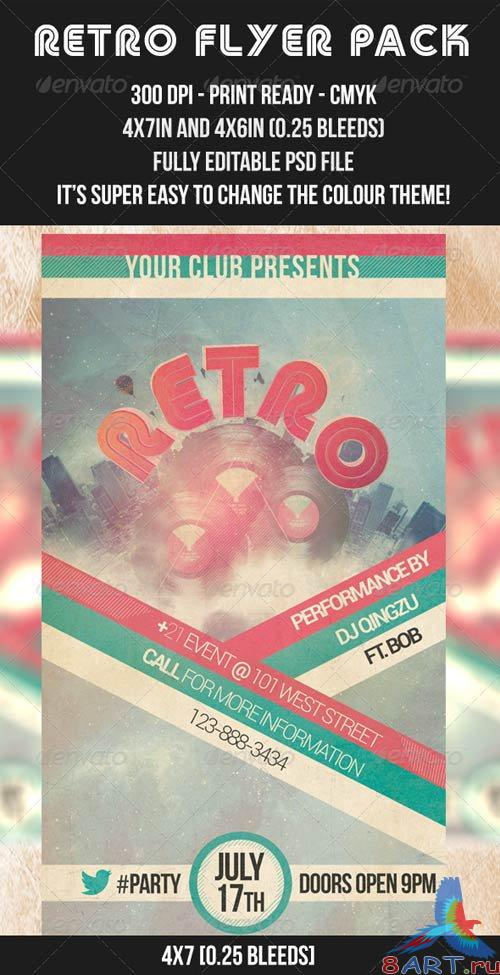 GraphicRiver Retro Flyer