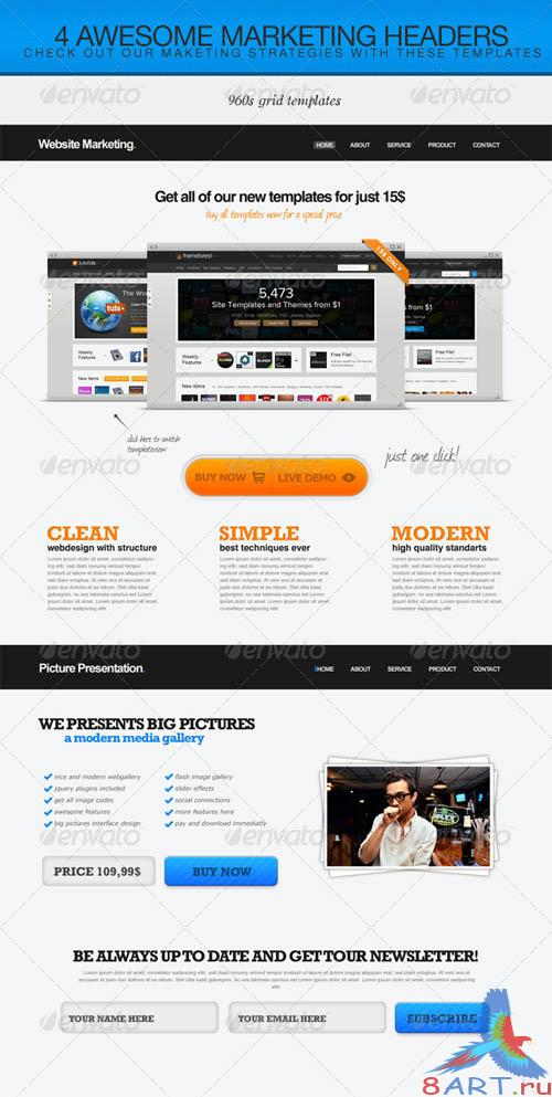 GraphicRiver 4 Marketing Headers