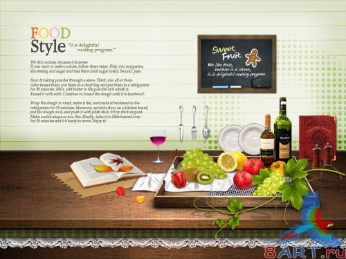 PSD Background Style food Fruit