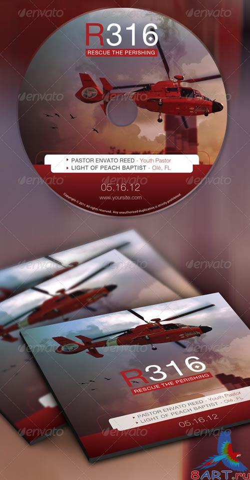 GraphicRiver Rescue The Perishing Postcard and CD Template
