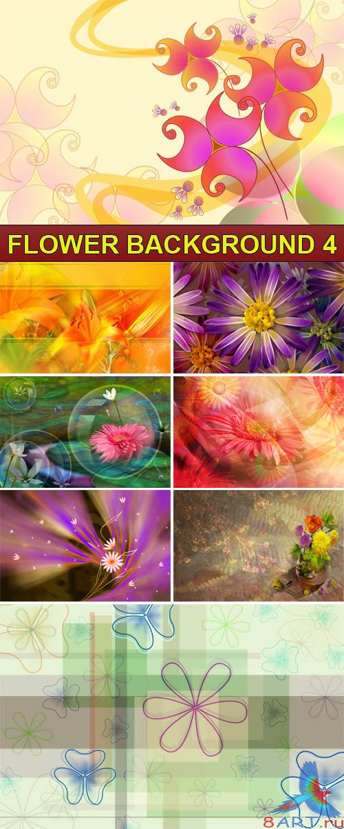PSD Source - Flower background 4