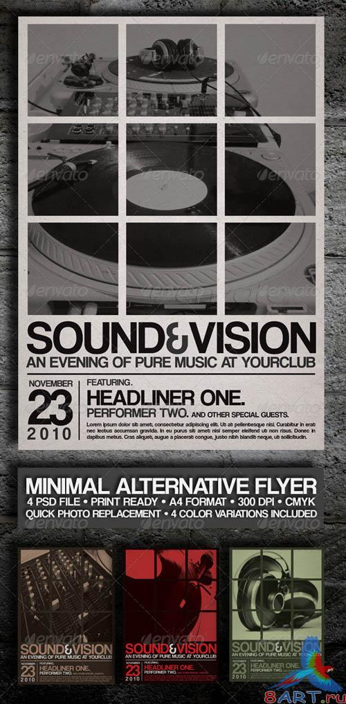 Minimal Alternative GraphicRiver Flyer/Poster Vol-1