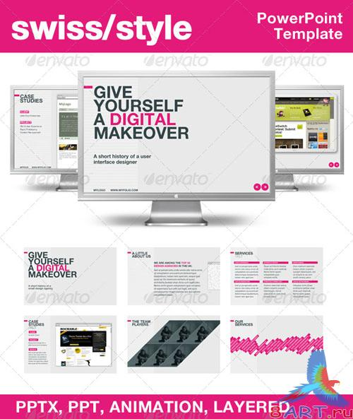 Swiss Style PowerPoint Template – GraphicRiver