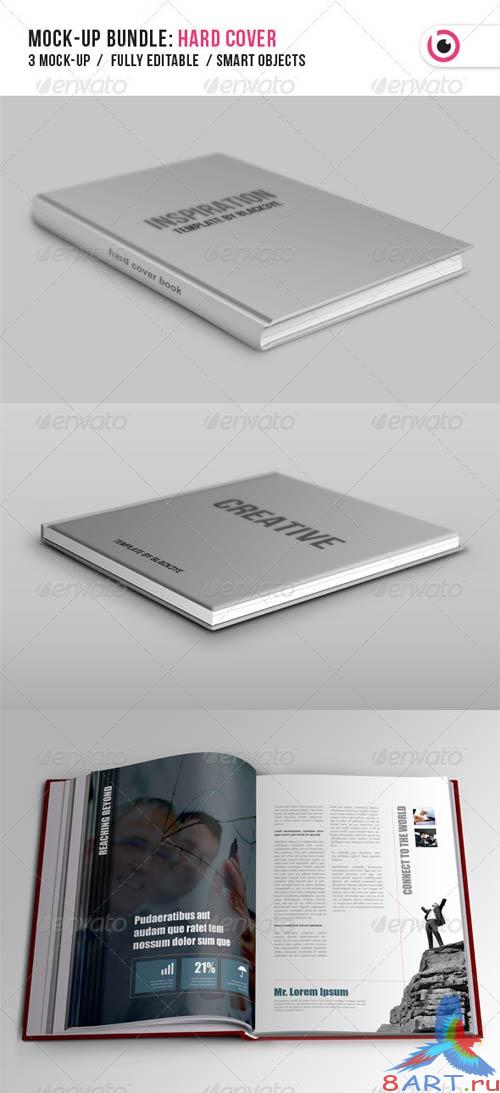 GraphicRiver Hard Cover Book Mock-up