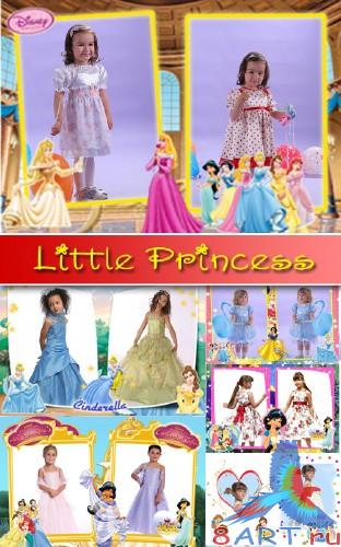 "Мультяшные рамки ""Little Princess"" (6 PNG + 6 PSD)"