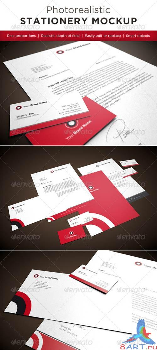 GraphicRiver Photorealistic Stationery Mock-Ups