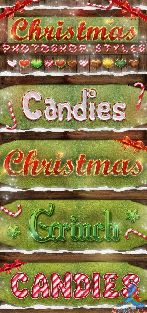 GraphicRiver Christmas Photoshop Styles - Text Effects