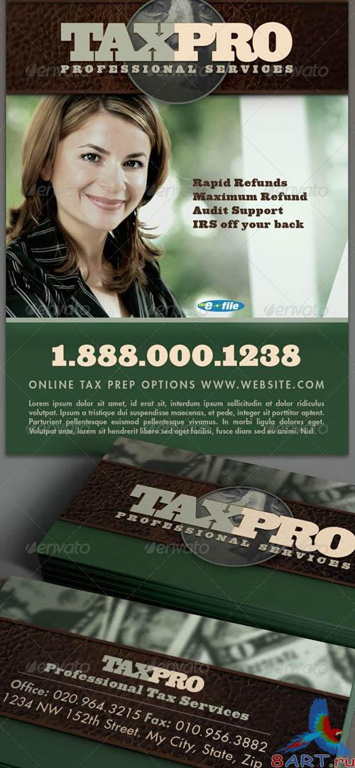 GraphicRiver Tax Pro Flyer and Business Card Template