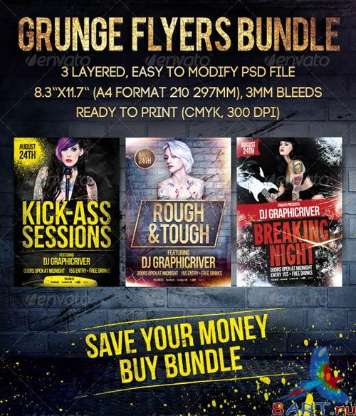 GraphicRiver Grunge Flyers Bundle