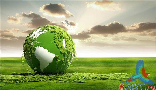PSD - Green Globe on the Field