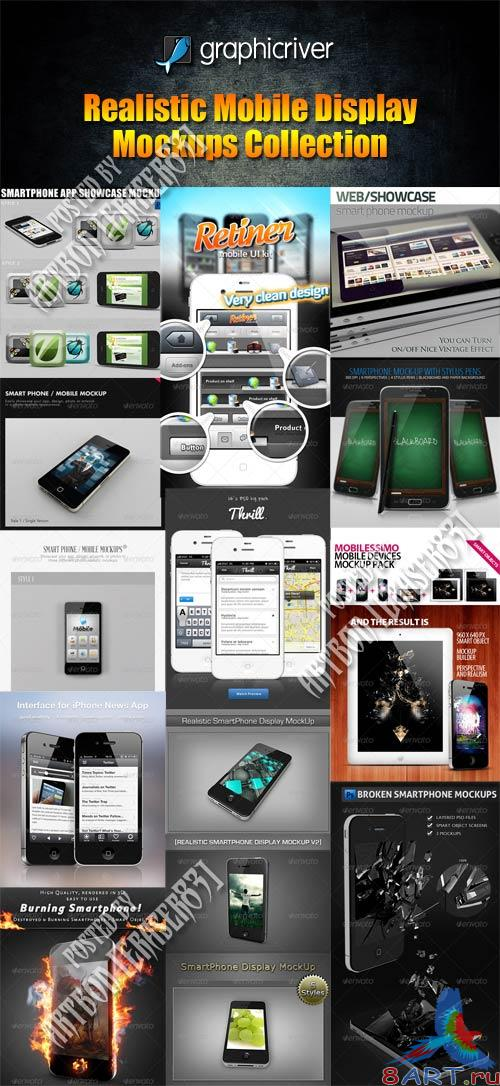 GraphicRiver Realistic Mobile Display Mockups Collection