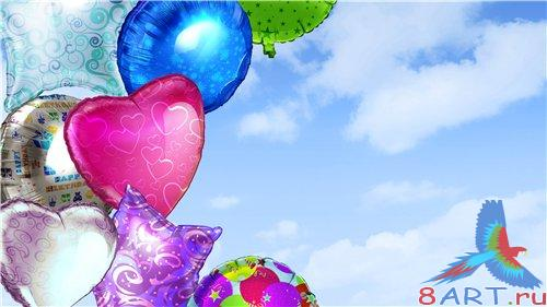 PSD - Celebratory Color Balloons