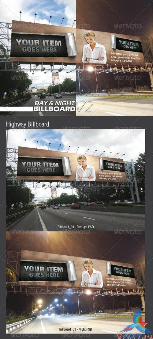 GraphicRiver Day & Night Billbaord V2 Mock-ups