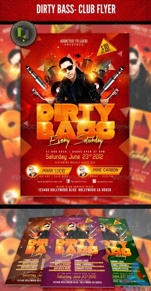 GraphicRiver Dirty Bass - Club Flyer