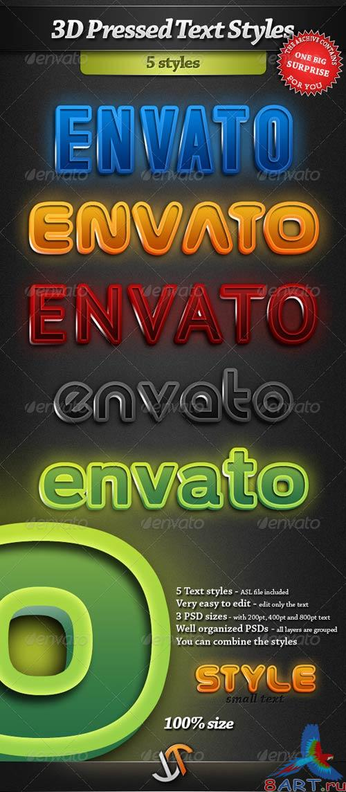 GraphicRiver 3D Pressed Text Styles