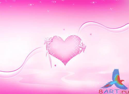PSD - Pink Heart Template