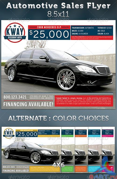 GraphicRiver Automotive Sales Ad Flyer Template