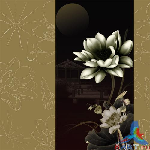 PSD - Brown Floral Style Template