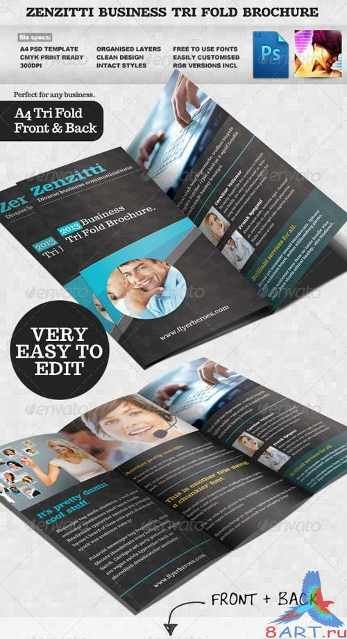 GraphicRiver Zenzitti Business Tri-fold brochure