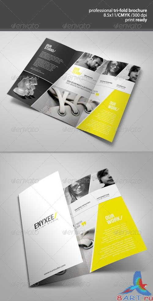 GraphicRiver Professional Unique Tri-Fold Brochure
