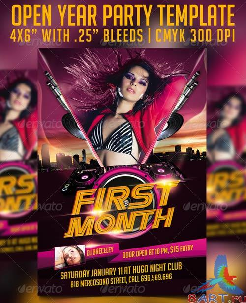 GraphicRiver First Month Flyer Template
