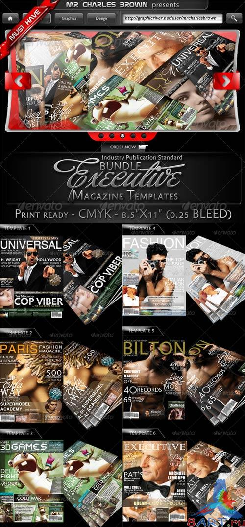 GraphicRiver Executive Magazine Cover Templates Bundle
