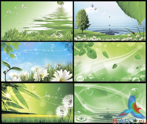 PSD Sources - Fresh Green Spring Background