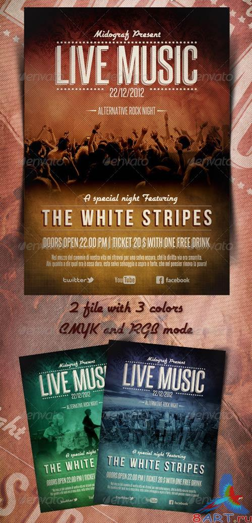 GraphicRiver Live Music Flyer
