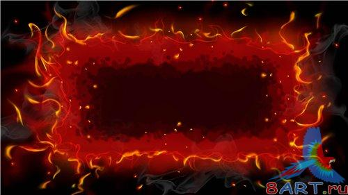 PSD - Creative Flame Red Frame