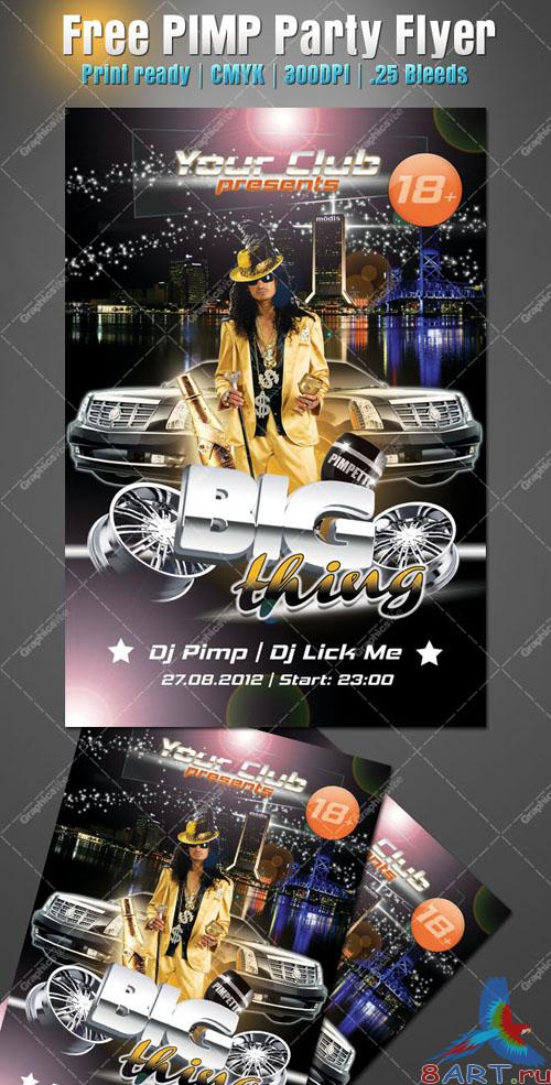 PIMP Party Flyer/Poster PSD Template