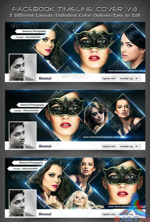 GraphicRiver Photographer's FB Timeline Covers V3