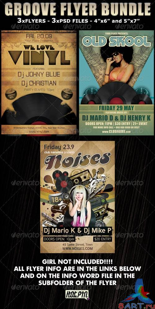 GraphicRiver Groove Party Club Flyer Bundle
