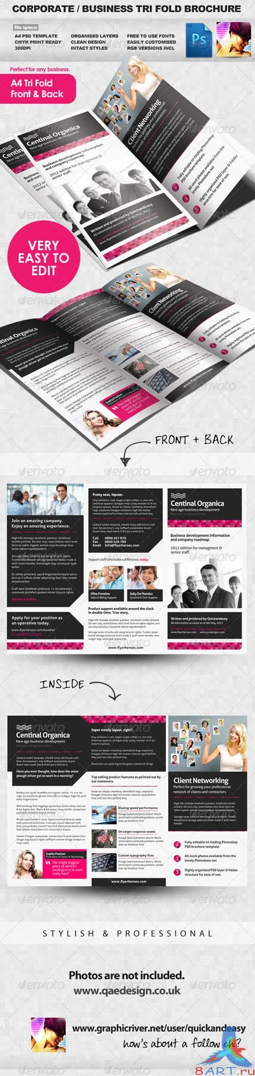 Corporate and Business Tri Fold Brochure