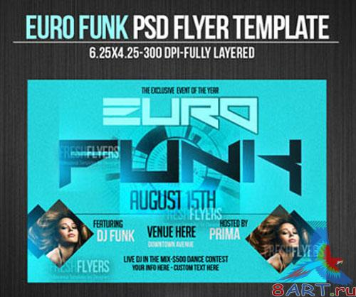 Euro Funk Flyer/Poster PSD Template