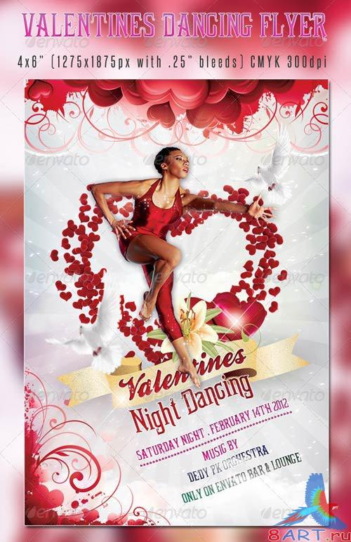 GraphicRiver Valentines Dancing Flyer Template