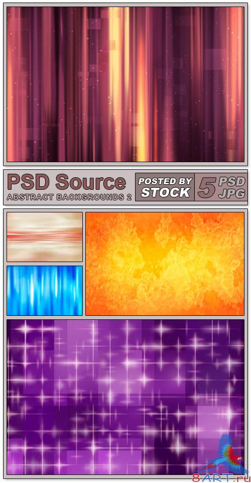 Layered PSD Files - Abstract backgrounds 2