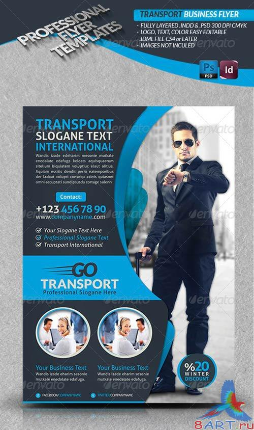GraphicRiver Transport Business Flyer