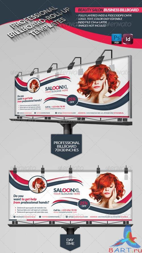 GraphicRiver Beauty Salon Business Billboard Roll-up