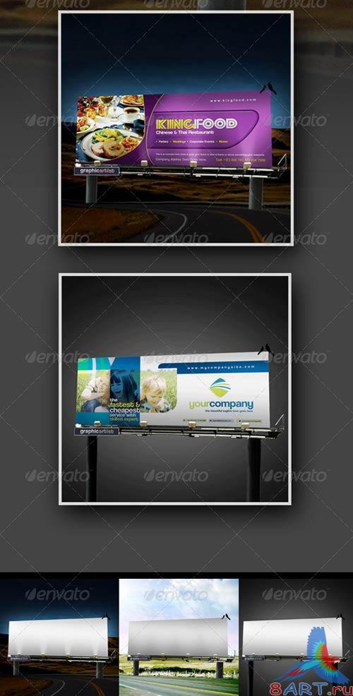 GraphicRiver Billboard Sinage Mock-up