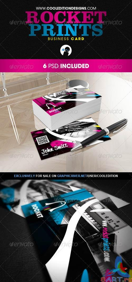 GraphicRiver Rocket Prints - Business Card