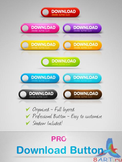 Sexy Download Buttons - GraphicRiver