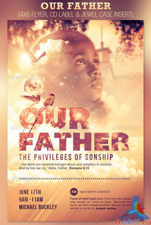 GraphicRiver Our Father Flyer and CD Template