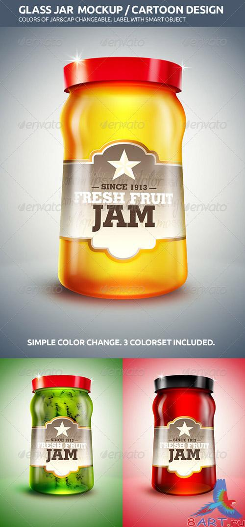 Glass Jar Mockup / Cartoon Design - GraphicRiver