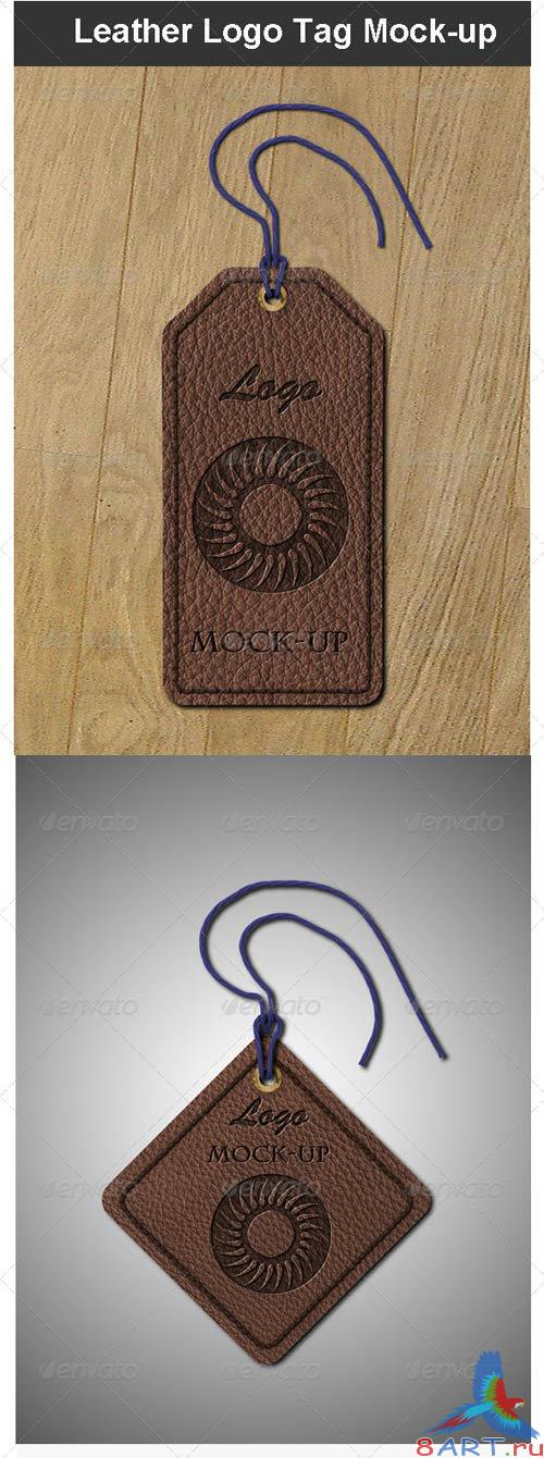 GraphicRiver Leather Logo Tag Mock-up