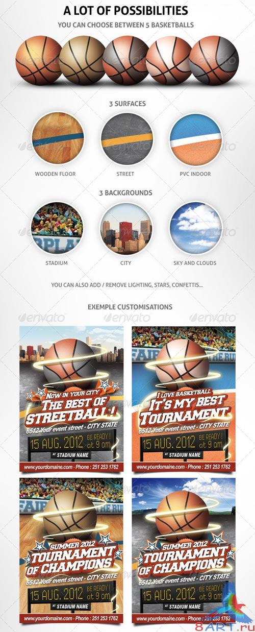GraphicRiver Basketball Event Flyer