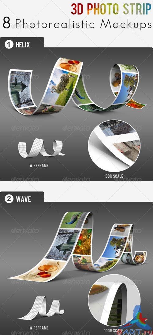 GraphicRiver 3D Photo Strip - Photorealistic Mockups