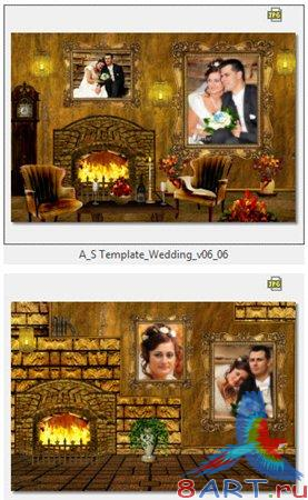Atmosphere Studio Photo Album Templates - Wedding vol. 6
