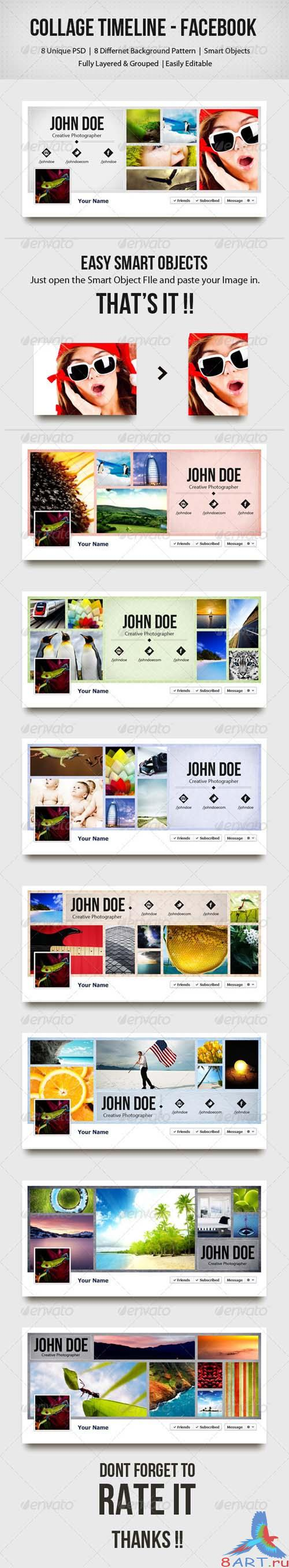 GraphicRiver Collage Timeline - Facebook