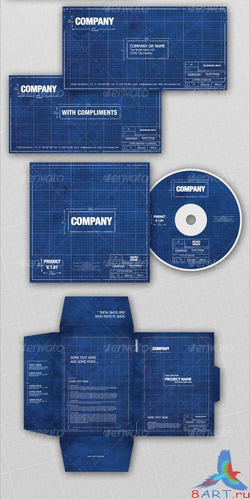 GraphicRiver Full Corporate ID Package - old BLUEPRINT